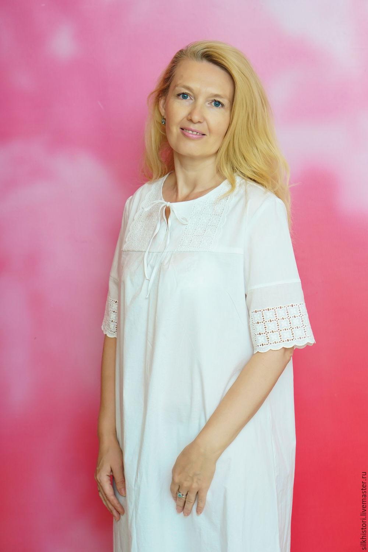 36b7e5499ce9 Ночная сорочка рубашка из батиста Сонечка, подарок сестре – купить в ...