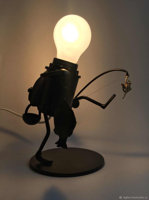 Table lamp 'Jolly fisherman', Table lamps, Kolchugino,  Фото №1