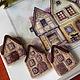 """Броши ручной работы. Ярмарка Мастеров - ручная работа. Купить Комплект брошей """"Home"""", сухое валяние, оригинальный подарок. Handmade."""