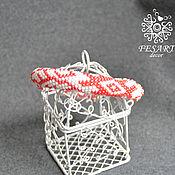 Украшения handmade. Livemaster - original item Beaded bracelet with ornament. Handmade.