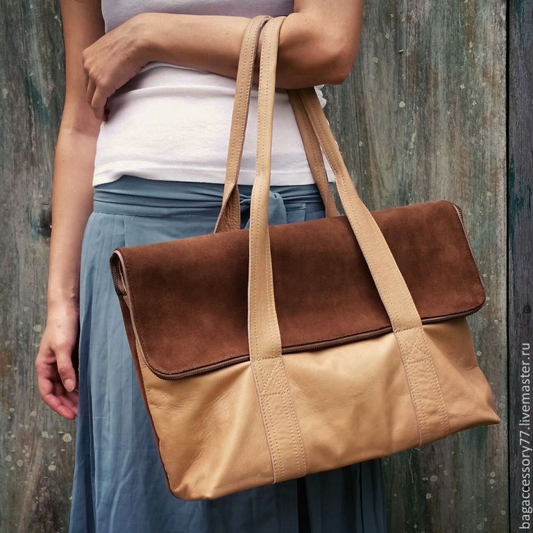 bag made of genuine leather and suede, Classic Bag, Moscow,  Фото №1