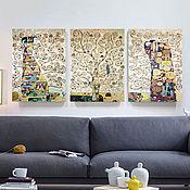 Картины и панно handmade. Livemaster - original item Module painting The Tree of Life. Gustav Klimt. Handmade.