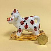 Сувениры и подарки handmade. Livemaster - original item Ladybug rocking chair porcelain. Handmade.