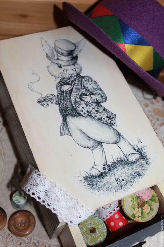 Шкатулки ручной работы. Ярмарка Мастеров - ручная работа. Купить Короб-пенал( перевертыш)для разных мелочей(продан). Handmade. Короб-пенал