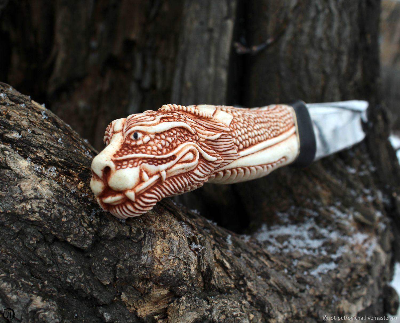 Dragon Knife Bone Carving Zakazat Na Yarmarke Masterov Fda25com Nozhi Kamen Na Obi
