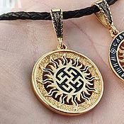 Украшения handmade. Livemaster - original item Perun color amulet. Gilding 999 and 925 silver art.Three million eleven thousand six hundred three. Handmade.