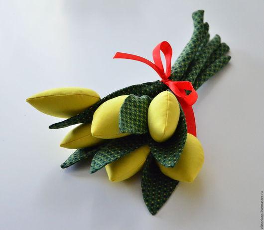 Цветы ручной работы. Ярмарка Мастеров - ручная работа. Купить Тюльпаны из ткани. Handmade. Комбинированный, 8 марта, текстиль для кухни