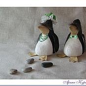 """Куклы и игрушки ручной работы. Ярмарка Мастеров - ручная работа Интерьерная игрушка """"Пара пингвинов"""". Handmade."""