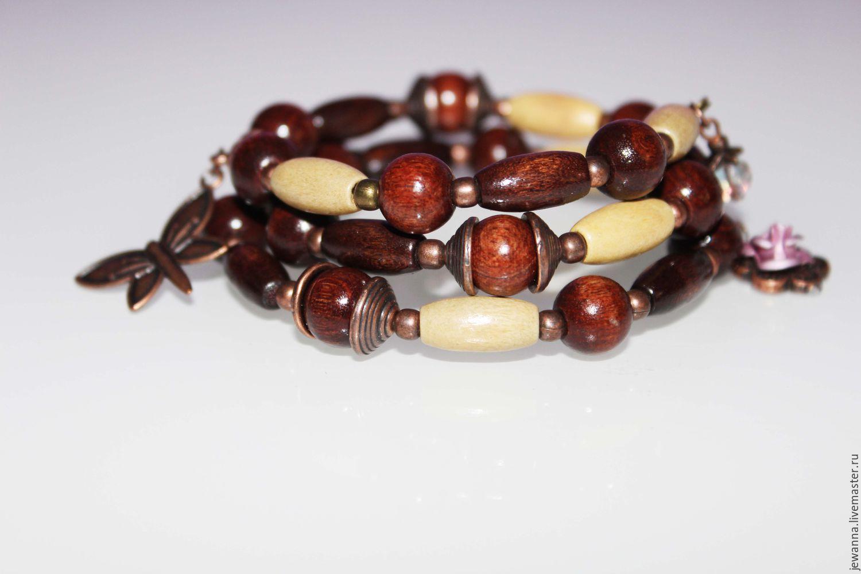 Деревянные бусины для браслетов купить