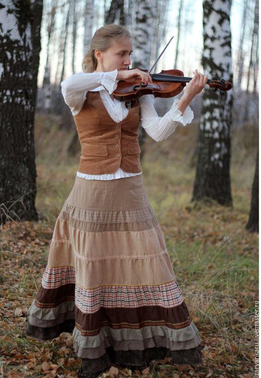 Юбки ручной работы. Ярмарка Мастеров - ручная работа. Купить Юбка Вивальди. Handmade. Длинная юбка, натуральные материалы, вискоза
