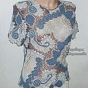 Одежда ручной работы. Ярмарка Мастеров - ручная работа Кружевная вязаная  блузка. Handmade.