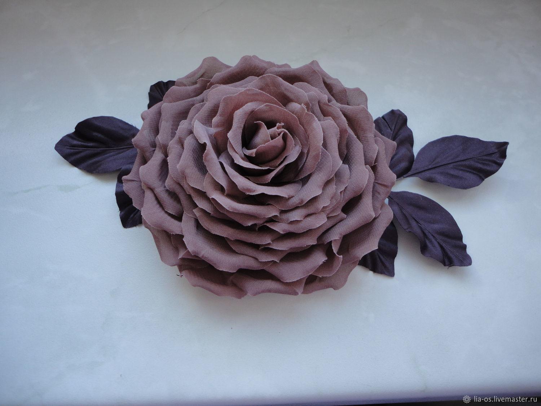 """Броши ручной работы. Ярмарка Мастеров - ручная работа. Купить Брошь""""Цвет старой розы"""""""". Handmade. Роза, брошь-цветок, крепление"""