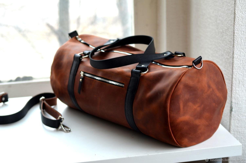 c0c8d52501dd Спортивные сумки ручной работы. Ярмарка Мастеров - ручная работа. Купить  Спортивная кожаная сумка из ...