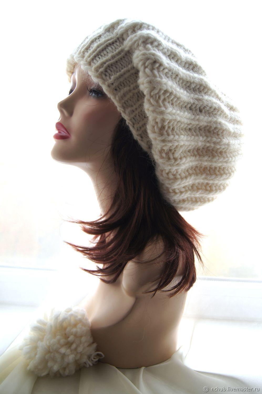 edfcb6346ca93 ... Icelandic · Berets handmade. Takes the White knit bulk from thick  Icelandic wool 100.