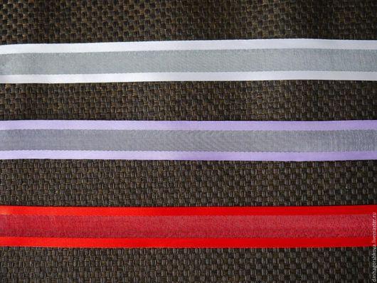 Другие виды рукоделия ручной работы. Ярмарка Мастеров - ручная работа. Купить Лента органза с атласным краем 25 мм. Handmade.