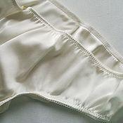 Одежда handmade. Livemaster - original item silk panties brazilian milk. Handmade.