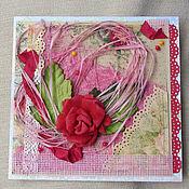 """Открытки ручной работы. Ярмарка Мастеров - ручная работа """"Розовый рассвет"""". Handmade."""