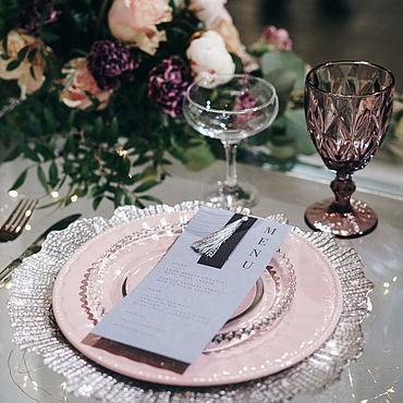 Свадебный салон ручной работы. Ярмарка Мастеров - ручная работа Карточки меню для гостей. Handmade.