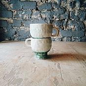 """Посуда ручной работы. Ярмарка Мастеров - ручная работа кружки """"белый и бирюзовый"""". Handmade."""