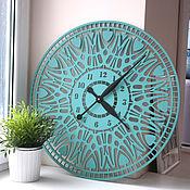 """Для дома и интерьера handmade. Livemaster - original item Настенные часы """"Анкона"""" лазурные. Handmade."""