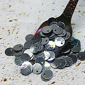Материалы для творчества handmade. Livemaster - original item Sequins: 59) 6 mm Nickel metallic offset center 2 gr. Handmade.