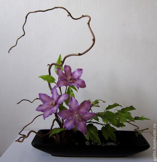Интерьерные композиции ручной работы. Ярмарка Мастеров - ручная работа. Купить Король вьющихся растений..... Handmade. Тёмно-фиолетовый, клематис