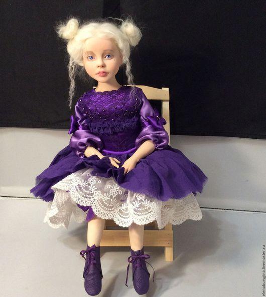 Коллекционные куклы ручной работы. Ярмарка Мастеров - ручная работа. Купить Сонечка. Авторская кукла. Нашла свой дом. Handmade. Фиолетовый