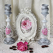 Для дома и интерьера handmade. Livemaster - original item Candle holder great shabby chic