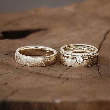 Украшения ручной работы. Ярмарка Мастеров - ручная работа Обручальные кольца из золота. Handmade.