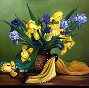 Картины и панно handmade. Livemaster - original item Still life with Irises. Handmade.