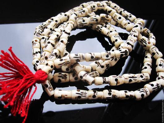 Для украшений ручной работы. Ярмарка Мастеров - ручная работа. Купить ЧЕТКИ Тибет кость резная. Handmade. Костяные бусины