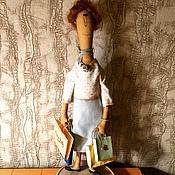 Куклы и игрушки ручной работы. Ярмарка Мастеров - ручная работа Кукла текстильная. Эдита Пьеха на шопинге)). Handmade.