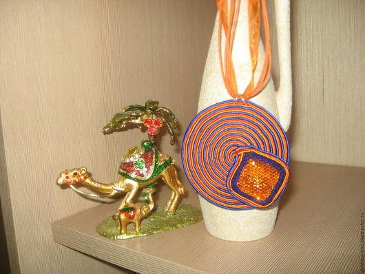 Кулоны, подвески ручной работы. Ярмарка Мастеров - ручная работа. Купить Кулон ЕГИПЕТСКИЕ НОЧИ. Handmade. Оранжевый, яркий, кулон