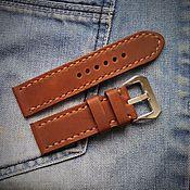 Украшения handmade. Livemaster - original item Watchband leather handmade 08-041. Handmade.