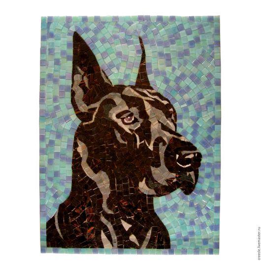 """Животные ручной работы. Ярмарка Мастеров - ручная работа. Купить Мозаичное панно """"Собака Дог"""". Handmade. Комбинированный, мозаика, Дог"""