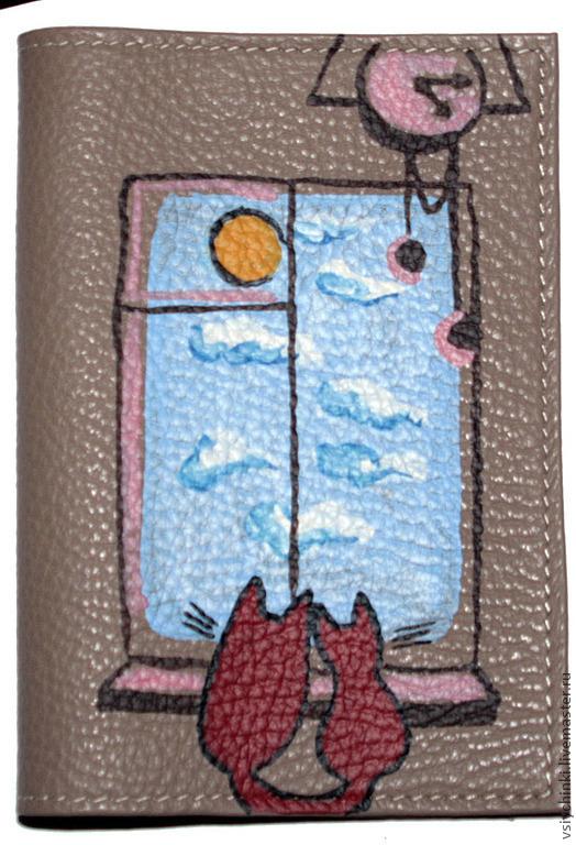 Обложки ручной работы. Ярмарка Мастеров - ручная работа. Купить Обложка У окна. Handmade. Обложка на паспорт, кожаная обложка