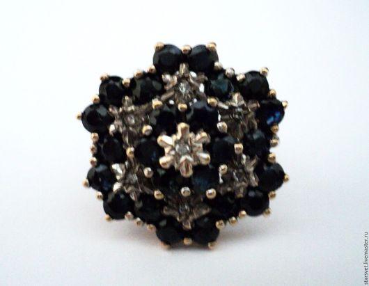 Винтажные украшения. Ярмарка Мастеров - ручная работа. Купить Английский сапфировый перстень. Handmade. Кольцо, золото 9К