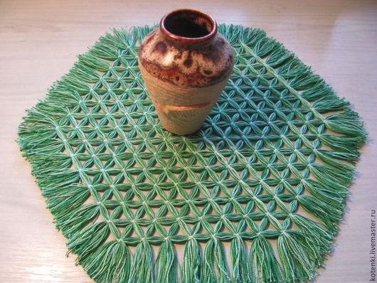 Текстиль, ковры ручной работы. Ярмарка Мастеров - ручная работа. Купить Салфетка плетеная на рамке. Handmade. Декоративная салфетка
