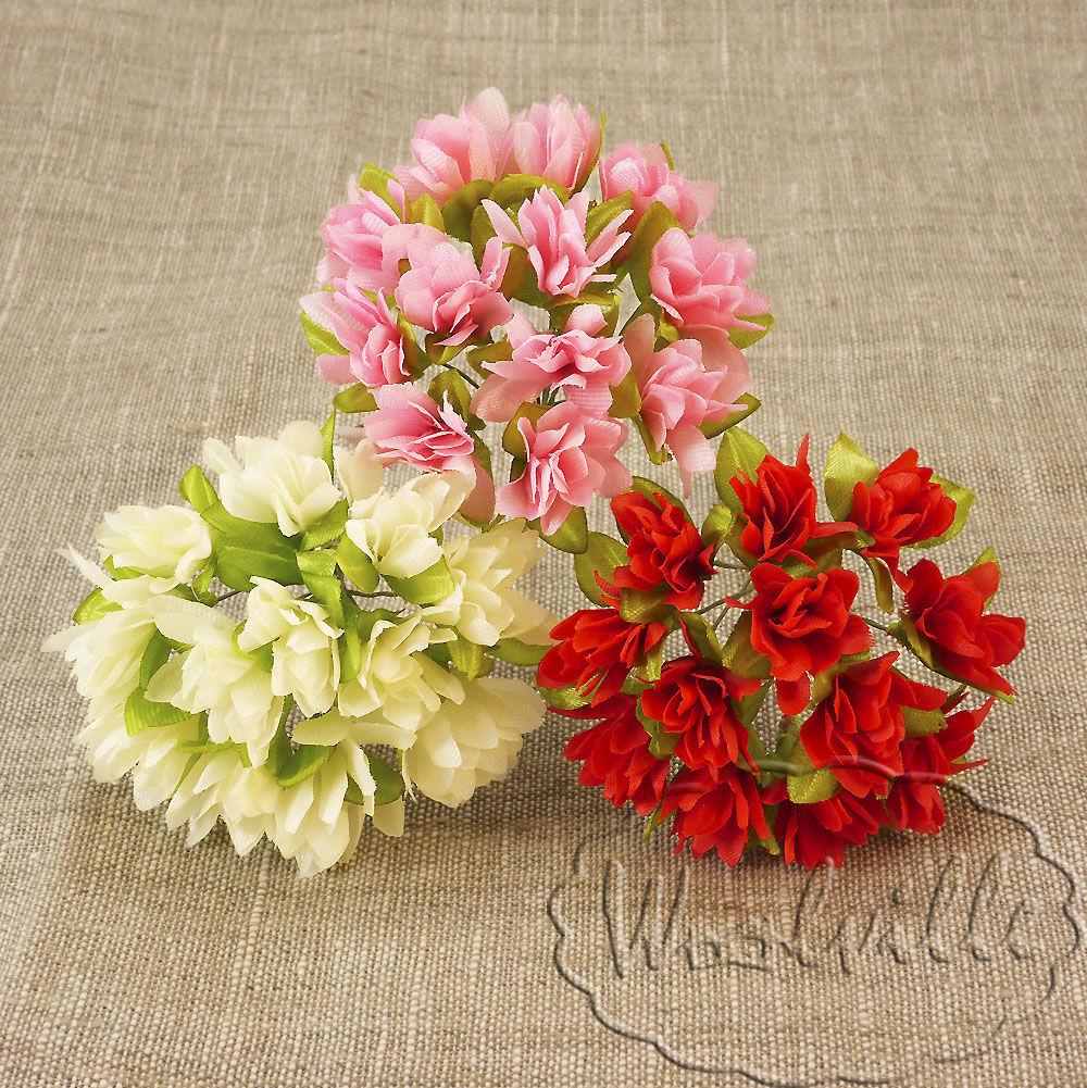Цветы из ткани ( букет состоит из 12 цветков ), Куклы и игрушки, Москва, Фото №1