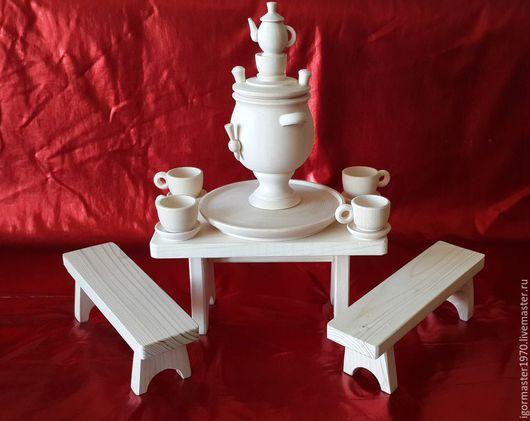 Набор Самовар продается отдельно. http://www.livemaster.ru/item/11354847-materialy-dlya-tvorchestva-samovar-u-samovara Весь комплект мебель + посуда - 1100 руб.