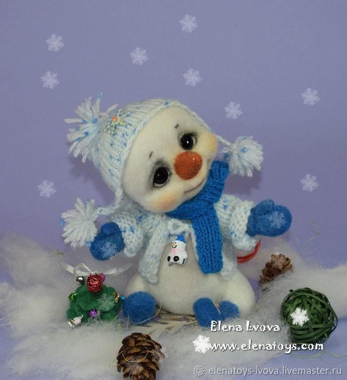Снеговичок Снежка, Мягкие игрушки, Санкт-Петербург,  Фото №1
