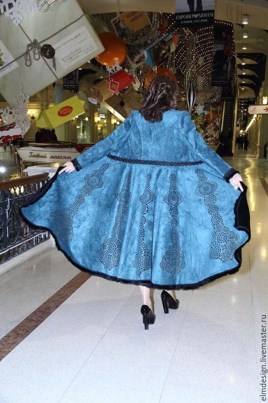Верхняя одежда ручной работы. Ярмарка Мастеров - ручная работа. Купить Пальто зимнее!Пальто!. Handmade. Морская волна, осень-зима