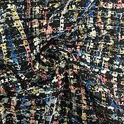 Материалы для творчества handmade. Livemaster - original item CLOTH CHANEL-BLACK WITH SEQUINS - FROM EURO TEX SRL. Handmade.