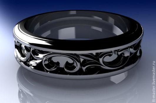 """Кольца ручной работы. Ярмарка Мастеров - ручная работа. Купить Кольцо """"Узорчатое"""". Handmade. Серый, подарок, серебро 925 пробы"""