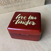 Подарки к праздникам handmade. Livemaster - original item Music box Love Me Tender Elvis Presley. Handmade.