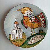 Тарелки ручной работы. Ярмарка Мастеров - ручная работа Тарелочки керамические декоративные. Handmade.