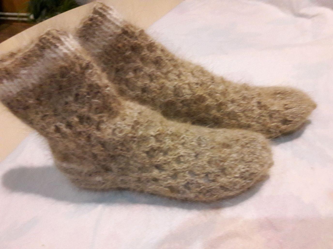 Fishnet socks made of dog down, Socks, Kursk,  Фото №1