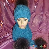Аксессуары ручной работы. Ярмарка Мастеров - ручная работа Комплект шапка+шарф №2. Handmade.