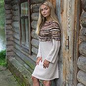 Одежда ручной работы. Ярмарка Мастеров - ручная работа Авторское вязаное платье``SAFARI -2``. Handmade.