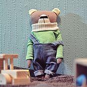 Мягкие игрушки ручной работы. Ярмарка Мастеров - ручная работа Медведь Робин. Handmade.